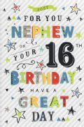 Nephew 16th Birthday Card